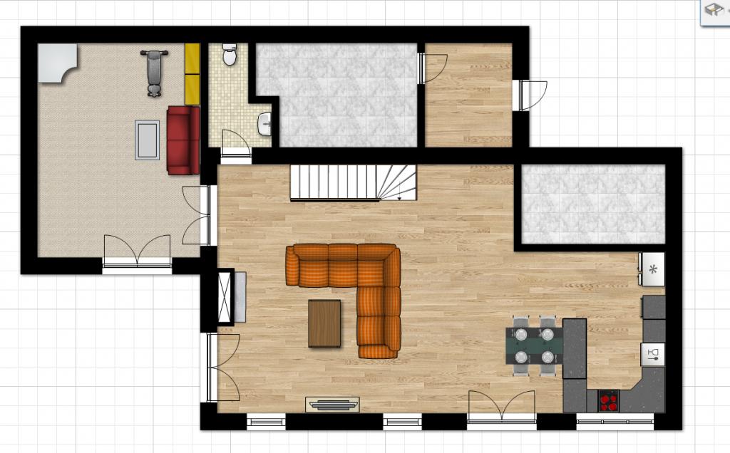 Dům alfa 1.03 - přízemí