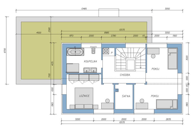 Dům veze 4 druhé patro