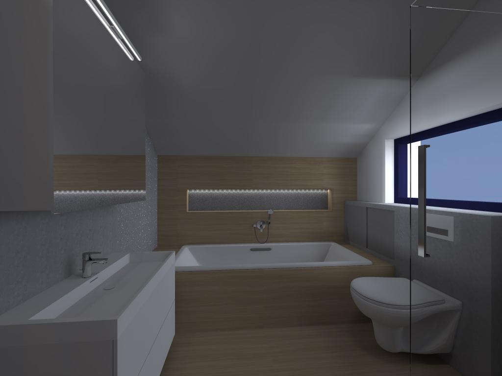Koupelna horni vizualizace