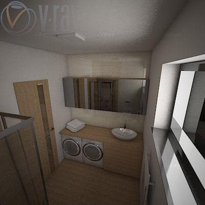 Koupelna spodni vizualizace