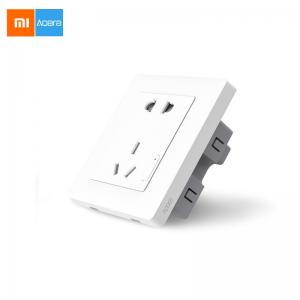 Xiaomi Smart Home Aqara Smart Light Control ZiGBee Wall Switch Socket CN Plug Via Smartphone APP